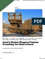 DePetris - Israel's Nuclear Weapons Program - National Interest - 2018