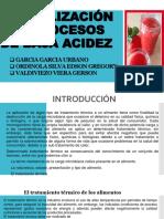 Esterilización en Procesos de Baja Acidez