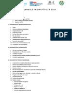 Carpeta Pedagógica 2018 - Estructura