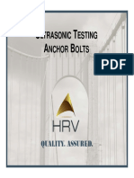 Stachel-Abernathy Anchor Bolt Testing