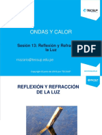 Sesión 13 - Reflexión y Refracción de La Luz