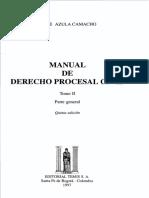 Manual de Derecho Procesal - Azula. Tomo II