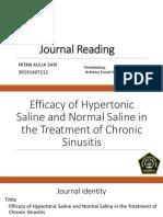 Efficacy NS vs HS in Chronic Sinusitis 2013