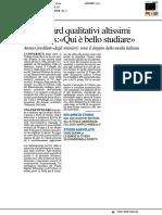 Urbino, standard qualitativi altissimi. Il Times