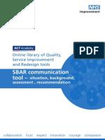 Sbar Communication Tool