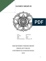 Elemen Mesin II (Gear & Belt)