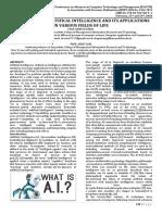 JournalNX- Artifical Intelligence Applications