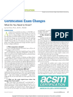 Certification Exam Changes018
