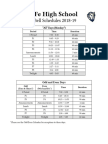 SFHS 2018-19 Bell Schedules