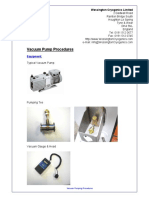 Vacuum Pump Procedures