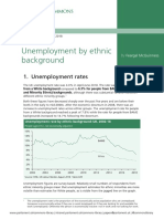 Government Reported Unemployment Statistics in Britain by ethnic racial background 2016