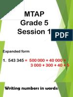 MTAP- Session 1