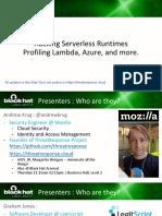 Hacking Serverless Runtimes