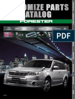 Customize Parts Catalog Forester