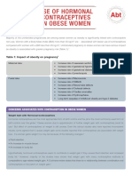 Use of Hormonal Contraceptives in Obese Women