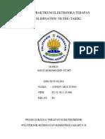 Praktikum 1 - Low Pass Filter Ordo I