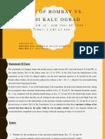 State of Bombay vs. Kathi Kalu Oghad