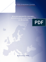 Knowledge Economy Innovation and Growth in Europe