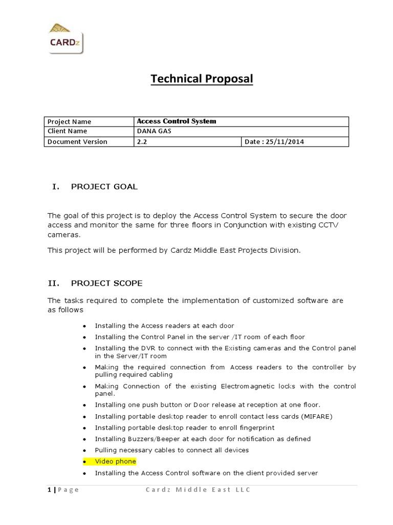 cctv camera project proposal
