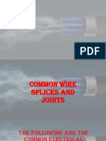 Common Wire Splices and Joints