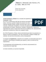 ATAS Proyectos y Obras Av. Almirante León Herrero, Nº3, 11100 San Fernando, Cádiz. 856 10 27 90
