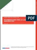 Recomendaciones Para La Clasificación Sanguinea Rhd