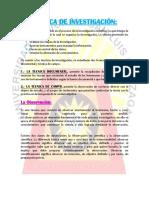 Tecnica de Investigación-metodologia de Inv.