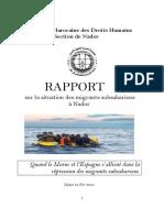 AMPDH (2015). Raport sur la situation des migrants subsahariens a Nador