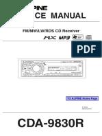 Alpine CDA 9830R Service ID1320