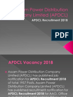 Assam Power Distribution Company Limited Recruitment 2018