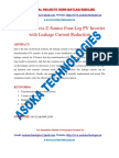 Transformerless Z-Source Four-Leg PV Inverter with Leakage Current Reduction