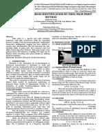 JournalNX- Person Identification Palm Print