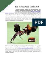 Bandar Taruhan Sabung Ayam Online 2018