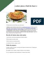 Batata Suíça Sabor Pizza
