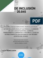 Ley de Inclusión 20.845