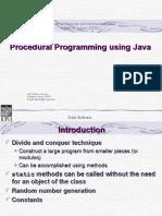 Java Procedural Programming