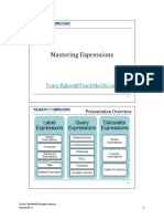 Mastering SQL Expressions - Pug 2011