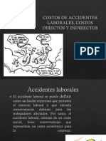 Costos de Accidentes Laborales, Costos Directos y Indirectos