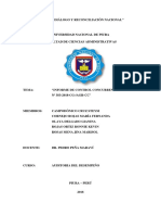 Auditoria - Informe Control Concurrente