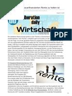 Deliberationdaily.de-was Von Einer Steuerfinanzierten Rente Zu Halten Ist