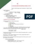 10. Fiziopatologia Insuficientei Respiratorii Acute - Rezumat