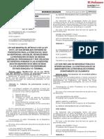 Ley que modifica el artículo 2 de la Ley 30137 Ley que establece criterios de priorización para la atención del pago de sentencias judiciales estableciendo la priorización de pago de deudas laborales previsionales y por violación de derechos humanos a los acreedores adultos mayores de 65 años de edad y a los acreedores con enfermedad en fase avanzada y/o terminal