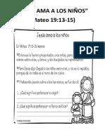 Lectura_jesús Ama a Los Niños
