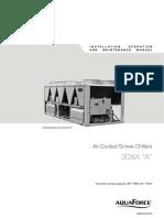Installation Operation Manual 30XA 252 1702
