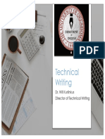 Technical Writing Intro