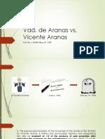 Vda. de Aranas vs Aranas