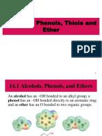 Alcohol, Phenols, Thiol & Ether