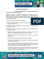 Evidencia 6 Ejercicio Practico Identificacion de La Posicion Arancelaria de Su Producto y Requisitos Asociados