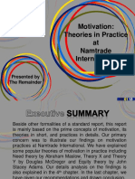 Motivation Practices at Namtrade International