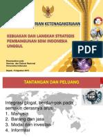 3 Presentasi Menaker Di Seminar Univ. Indonesia 2015